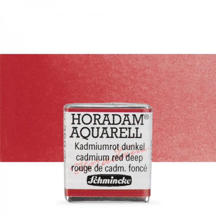 Schmincke : Horadam Watercolour Paint : Half Pan : Cadmium Deep Red
