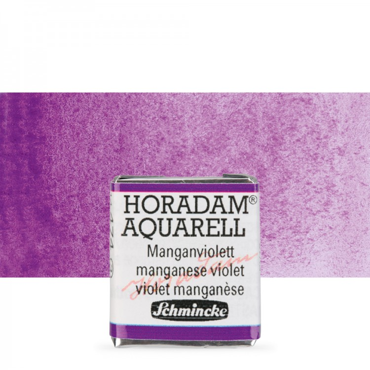 Schmincke : Horadam Watercolour Paint : Half Pan : Manganese Violet