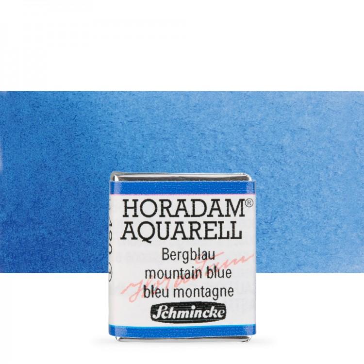 Schmincke : Horadam Watercolour Paint : Half Pan : Mountain Blue