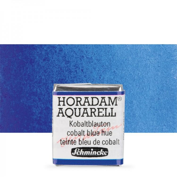 Schmincke : Horadam Watercolour Paint : Half Pan : Cobalt Blue Tone