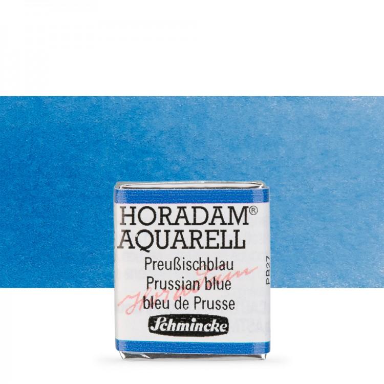 Schmincke : Horadam Watercolour Paint : Half Pan : Prussian Blue