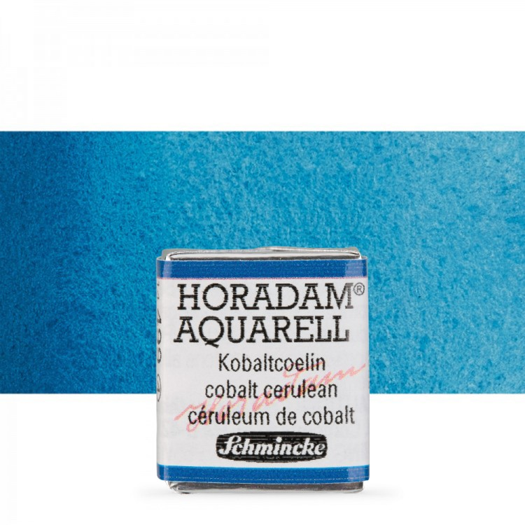 Schmincke : Horadam Watercolour Paint : Half Pan : Cobalt Cerulean