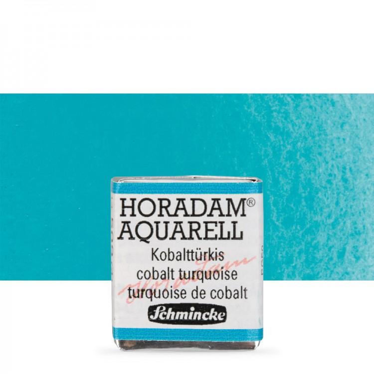 Schmincke : Horadam Watercolour Paint : Half Pan : Cobalt Turquoise