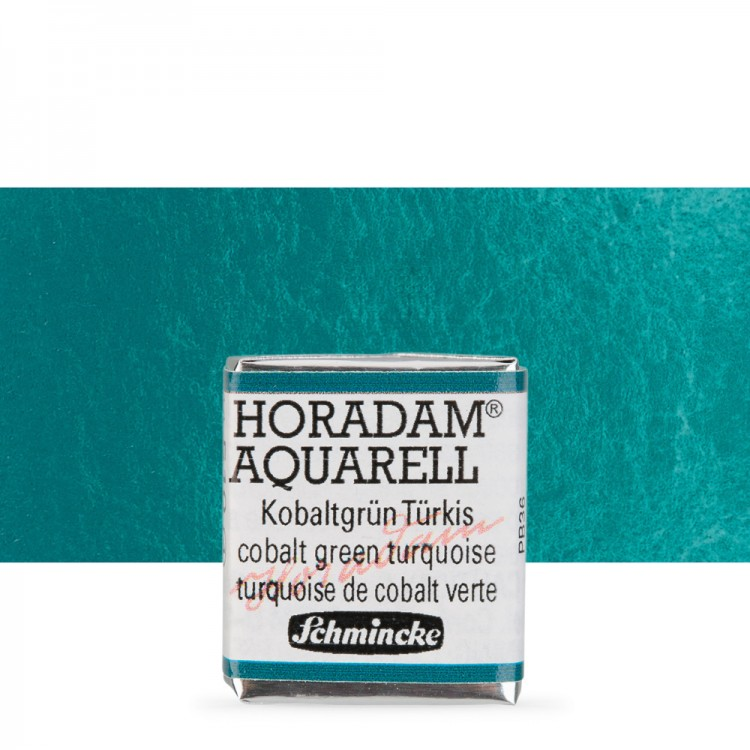 Schmincke : Horadam Watercolour Paint : Half Pan : Cobalt Green Turquoise