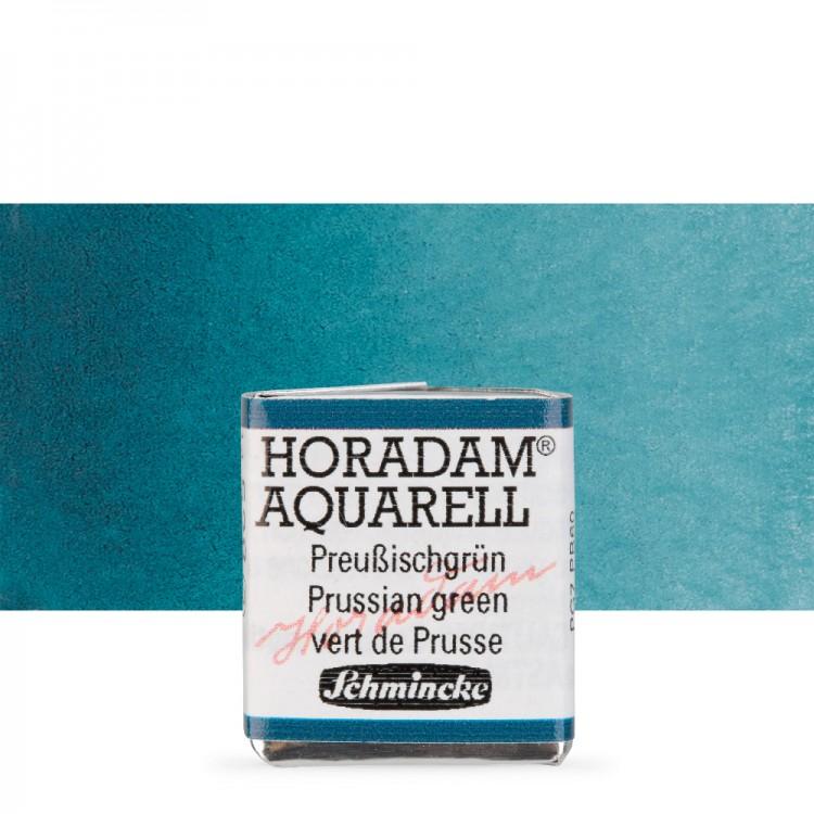 Schmincke : Horadam Watercolour Paint : Half Pan : Prussian Green