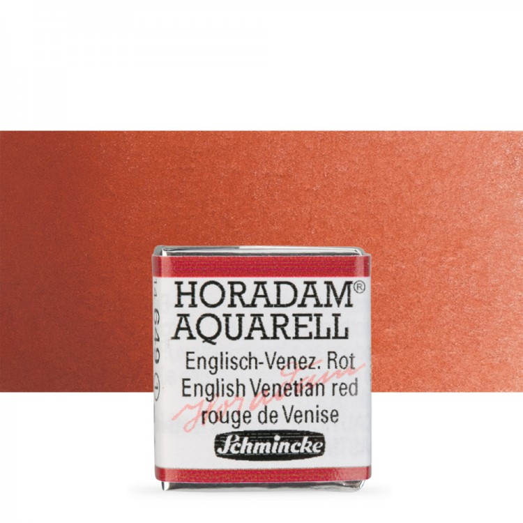 Schmincke : Horadam Watercolour Paint : Half Pan : English Venetian Red