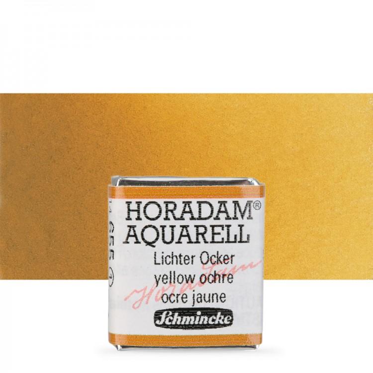 Schmincke : Horadam Watercolour Paint : Half Pan : Yellow Ochre