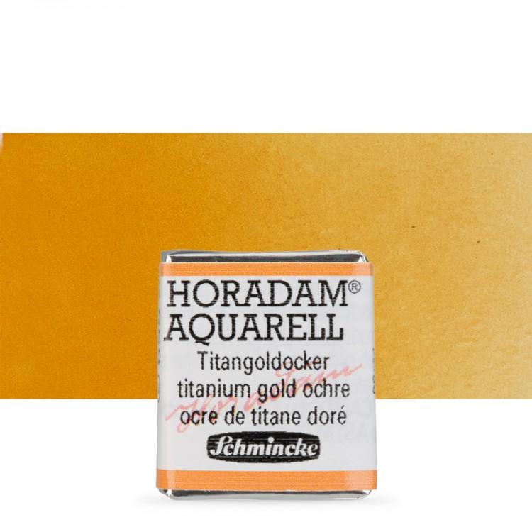 Schmincke : Horadam Watercolour Paint : Half Pan : Titanium Gold Ochre