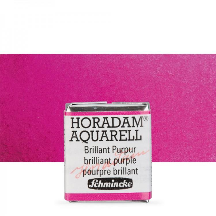 Schmincke : Horadam Watercolour Paint : Half Pan : Brilliant Purple