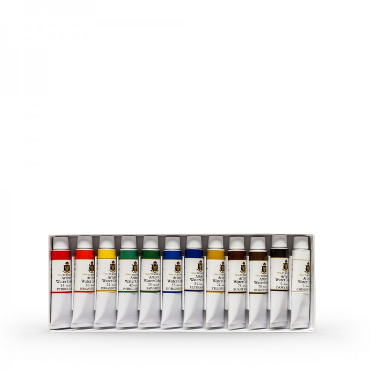 Turner : Artist's Watercolour Paint : 15ml : Set of 12 Colours