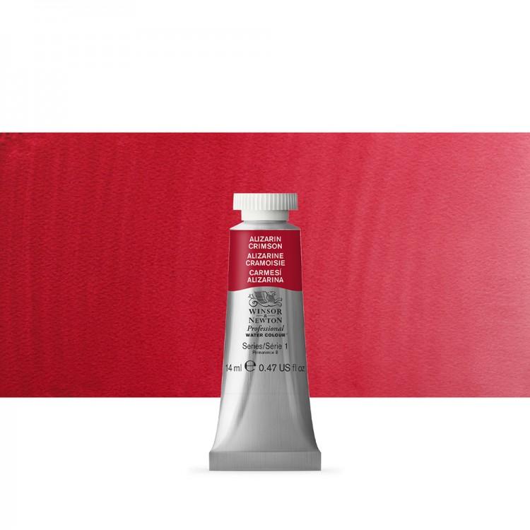 Winsor & Newton : Professional Watercolour Paint : 14ml : Alizarin Crimson