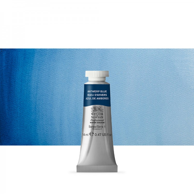 Winsor & Newton : Professional Watercolour Paint : 14ml : Antwerp Blue