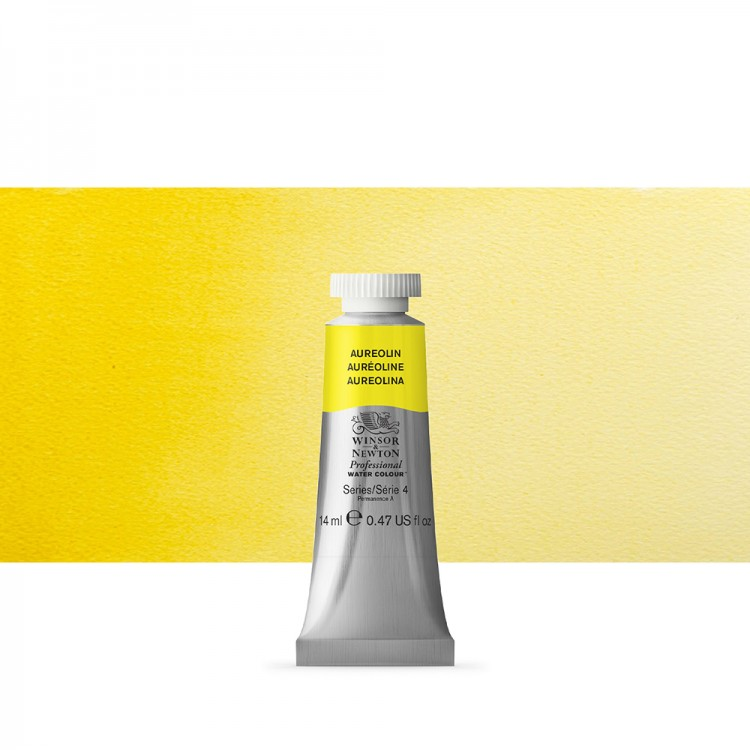 Winsor & Newton : Professional Watercolour Paint : 14ml : Aureolin