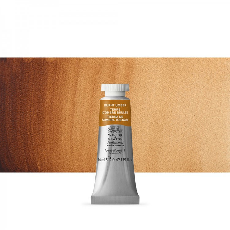 Winsor & Newton : Professional Watercolour Paint : 14ml : Burnt Umber