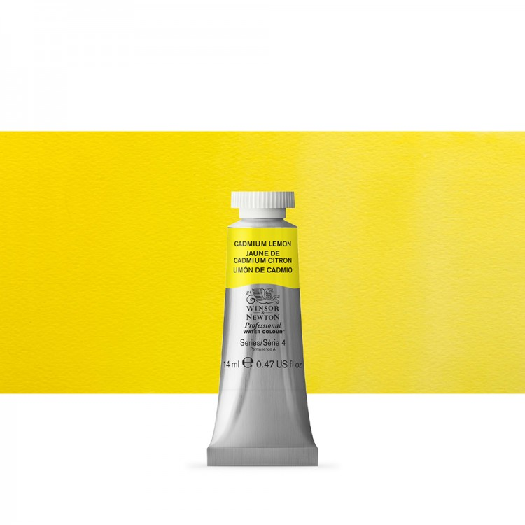 Winsor & Newton : Professional Watercolour Paint : 14ml : Cadmium Lemon