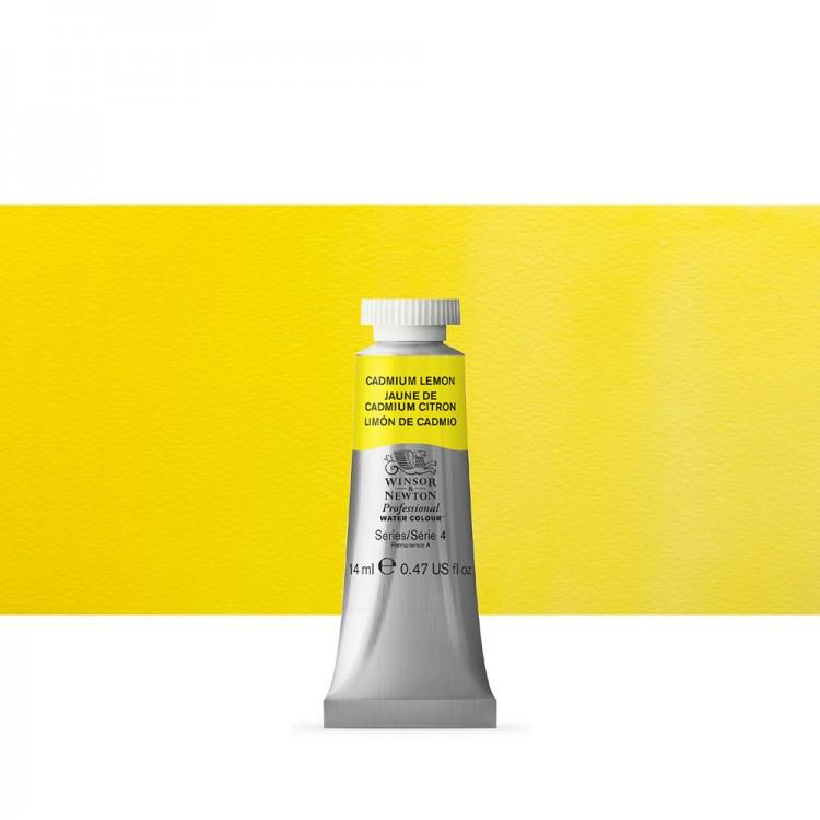 Winsor & Newton : Professional Watercolour Paint : 14ml : Cadmium Lemon