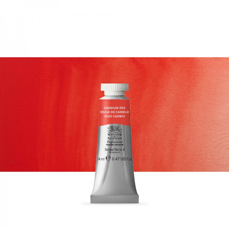 Winsor & Newton : Professional Watercolour Paint : 14ml : Cadmium Red