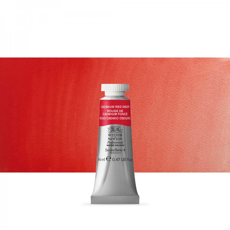 Winsor & Newton : Professional Watercolour Paint : 14ml : Cadmium Red Deep