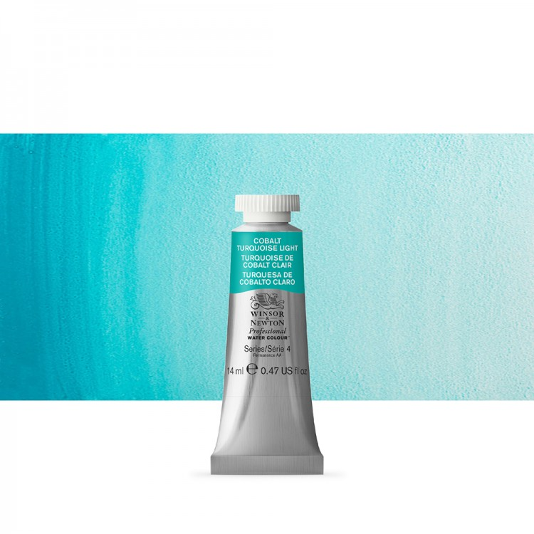 Winsor & Newton : Professional Watercolour Paint : 14ml : Cobalt Turquoise Light