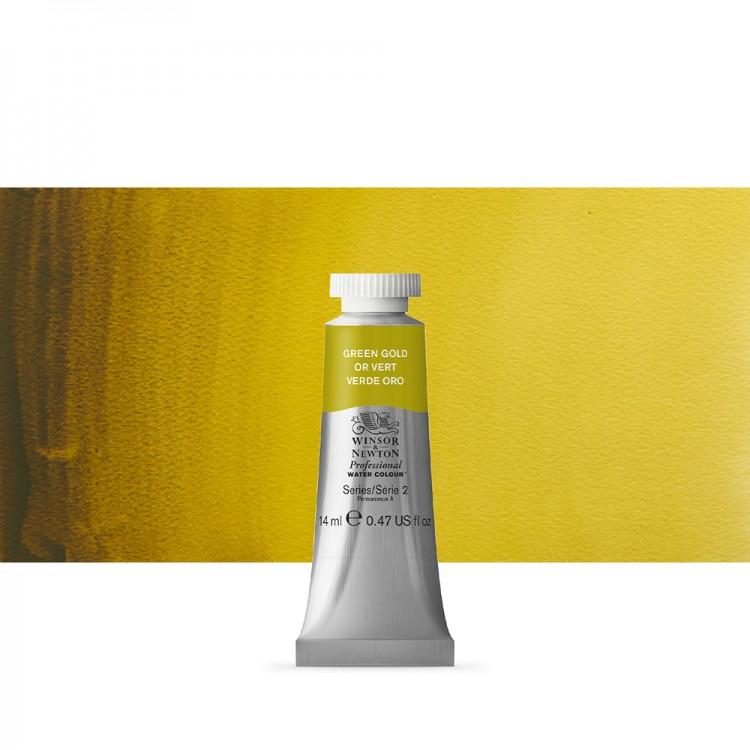 Winsor & Newton : Professional Watercolour Paint : 14ml : Green Gold
