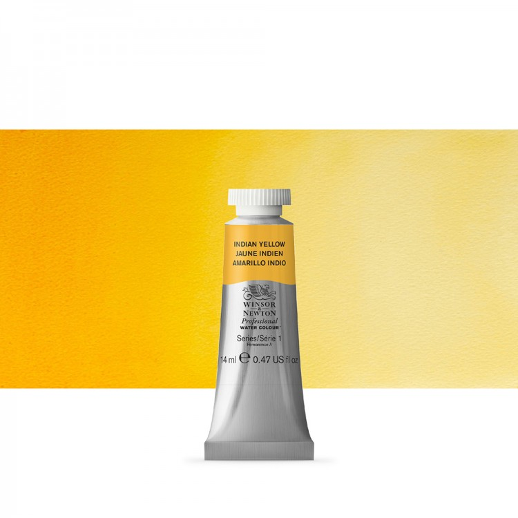 Winsor & Newton : Professional Watercolour Paint : 14ml : Indian Yellow
