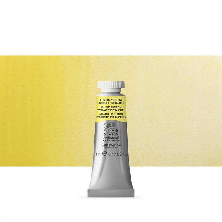 Winsor & Newton : Professional Watercolour Paint : 14ml : Lemon Yellow