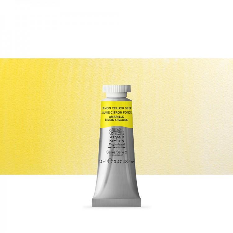 Winsor & Newton : Professional Watercolour Paint : 14ml : Lemon Yellow Deep