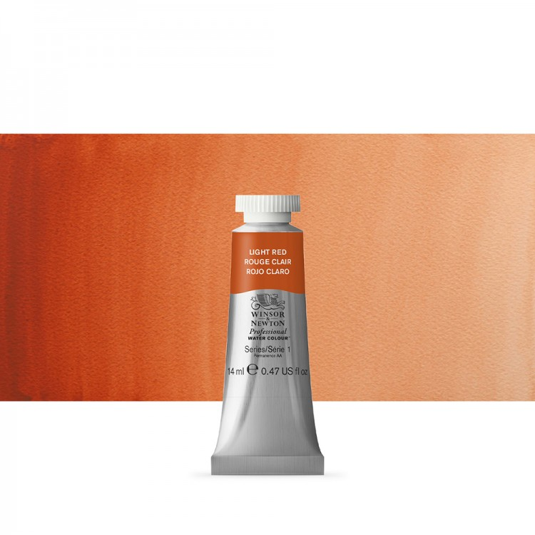 Winsor & Newton : Professional Watercolour Paint : 14ml : Light Red