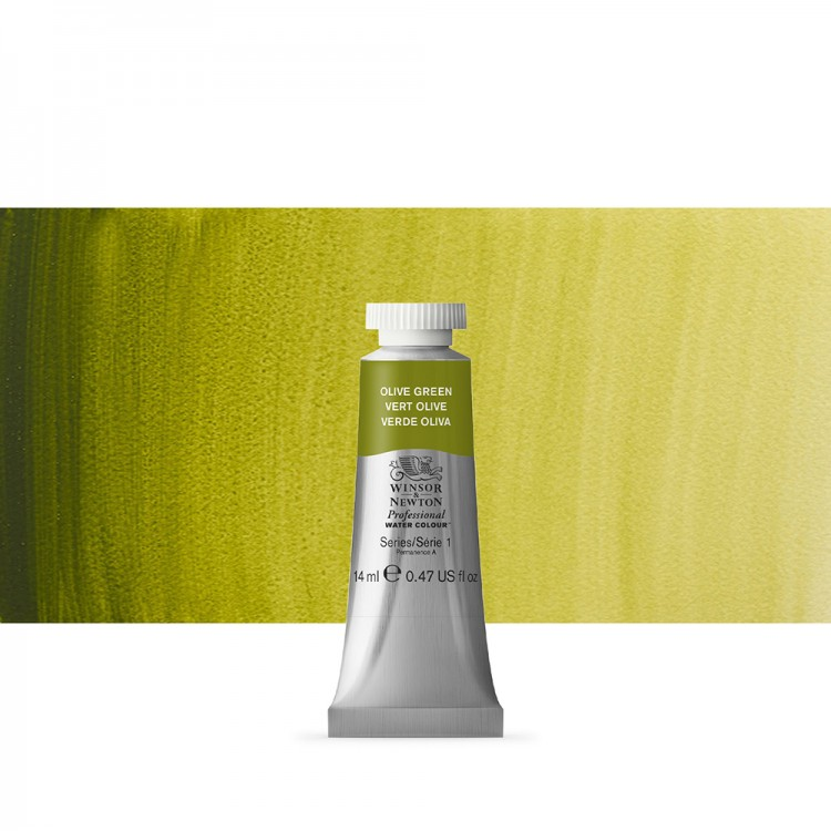 Winsor & Newton : Professional Watercolour Paint : 14ml : Olive Green