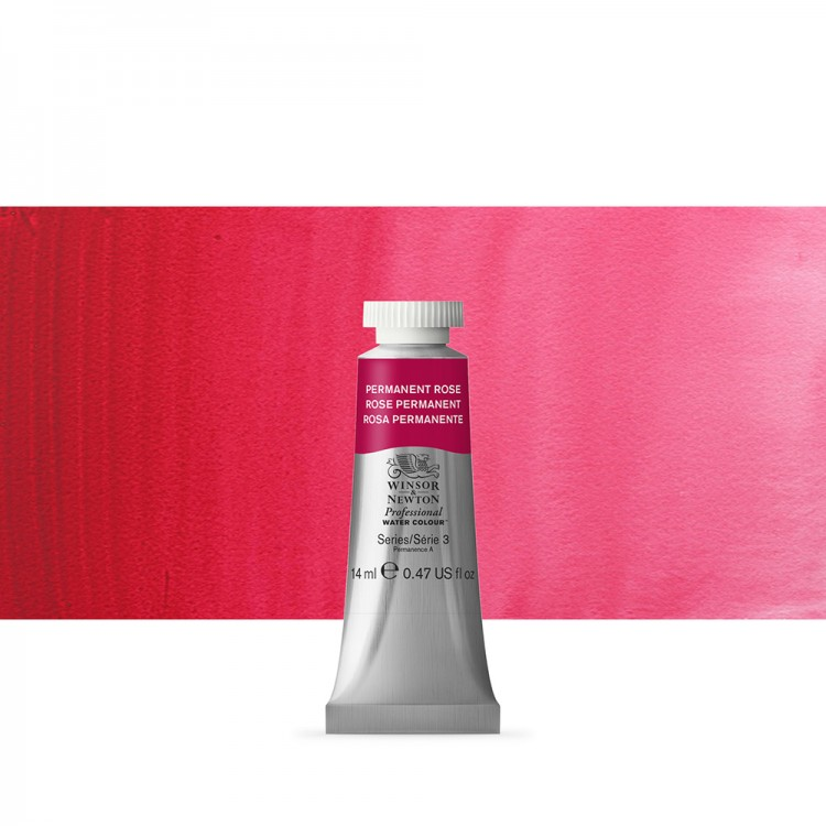 Winsor & Newton : Professional Watercolour Paint : 14ml : Permanent Rose