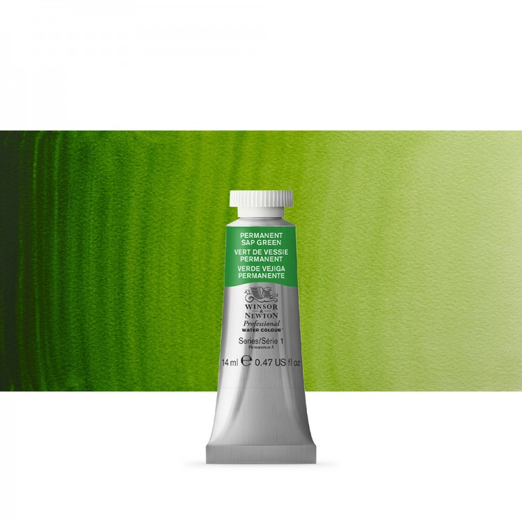 Winsor & Newton : Professional Watercolour Paint : 14ml : Permanent Sap Green