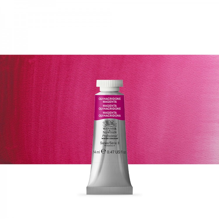 Winsor & Newton : Professional Watercolour Paint : 14ml : Quinacridone Magenta