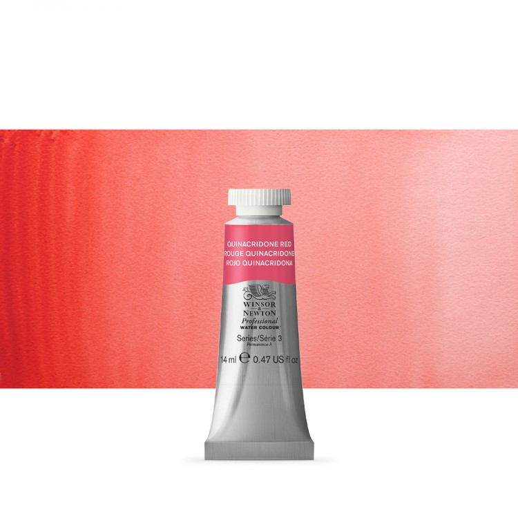 Winsor & Newton : Professional Watercolour Paint : 14ml : Quinacridone Red