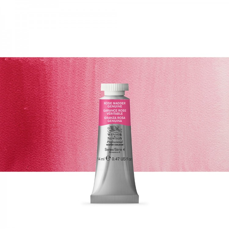 Winsor & Newton : Professional Watercolour Paint : 14ml : Rose Madder Genuine