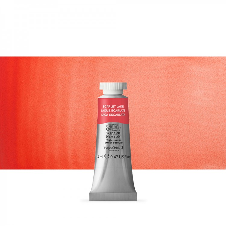 Winsor & Newton : Professional Watercolour Paint : 14ml : Scarlet Lake