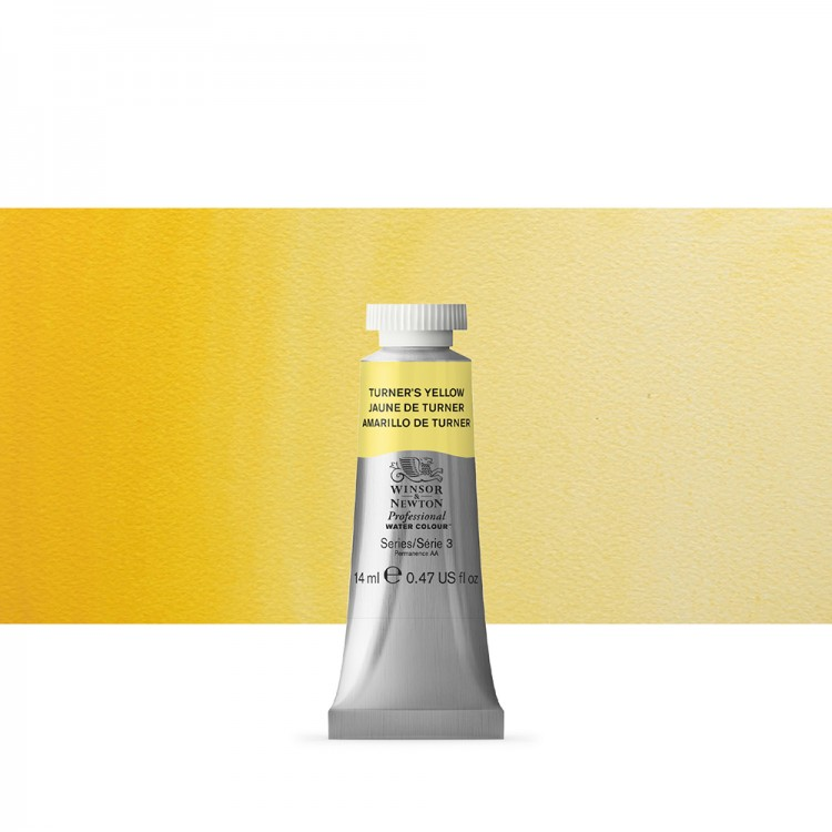Winsor & Newton : Professional Watercolour Paint : 14ml : Turners Yellow