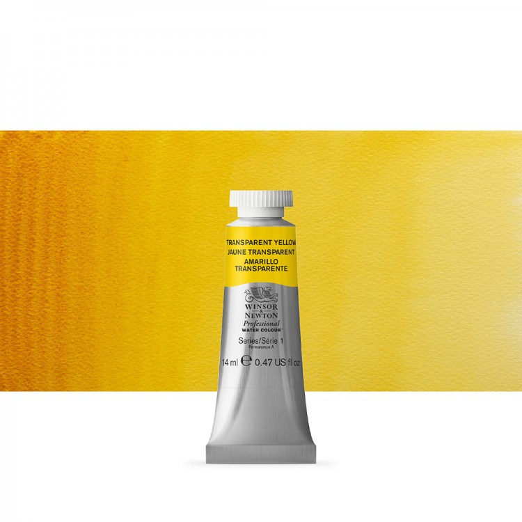 Winsor & Newton : Professional Watercolour Paint : 14ml : Transparent Yellow