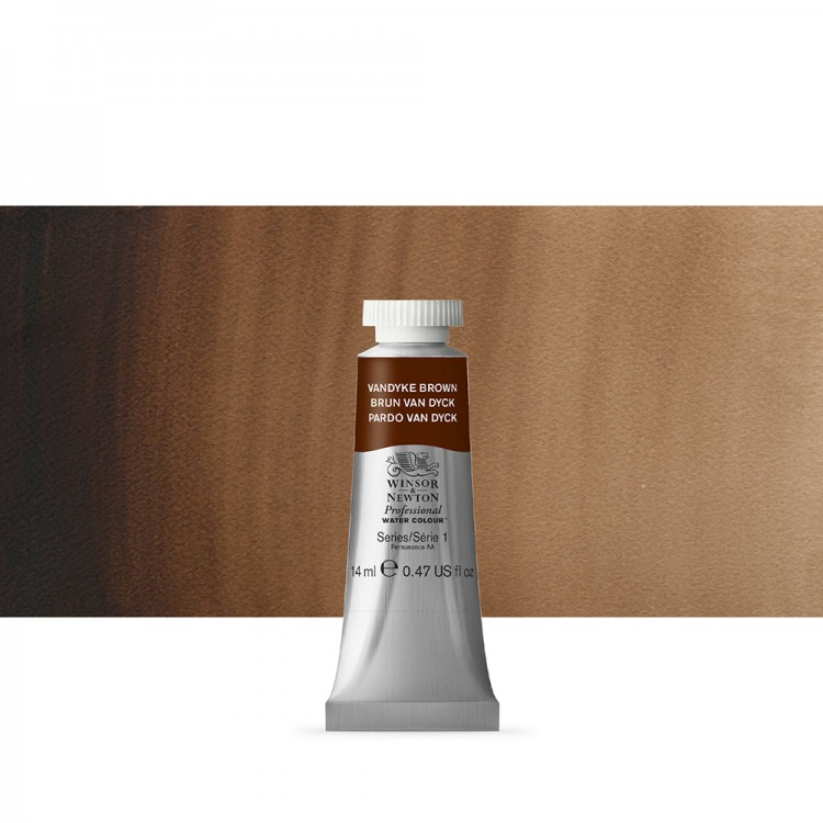 Winsor & Newton : Professional Watercolour Paint : 14ml : Van Dyke Brown