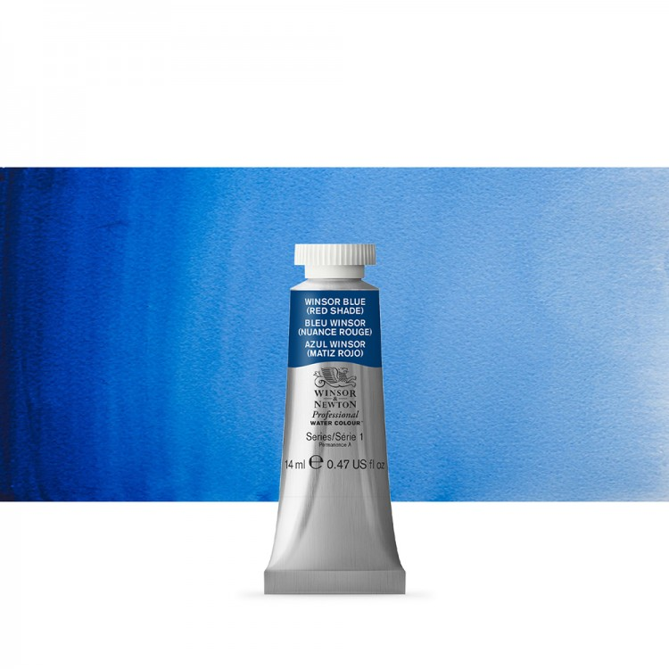 Winsor & Newton : Professional Watercolour Paint : 14ml : Winsor Blue (Red Shade)
