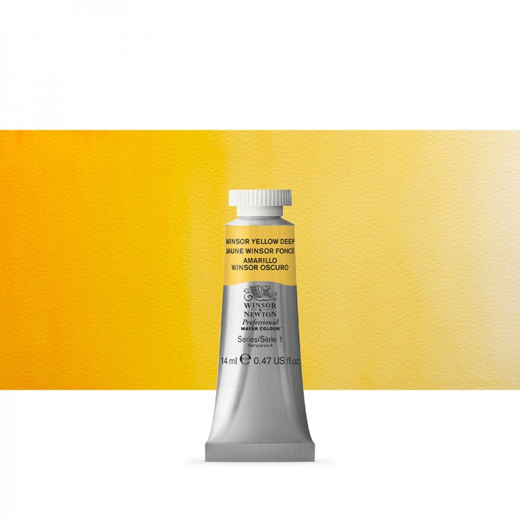 Winsor & Newton : Professional Watercolour Paint : 14ml : Winsor Yellow Deep