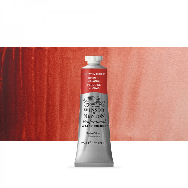 Winsor & Newton : Professional Watercolour Paint : 37ml : Brown Madder
