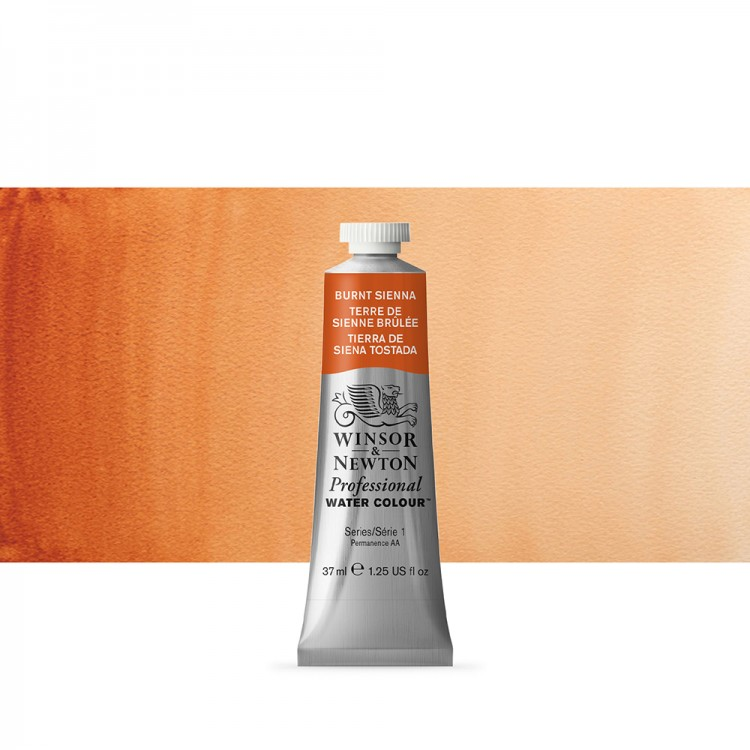 Winsor & Newton : Professional Watercolour Paint : 37ml : Burnt Sienna