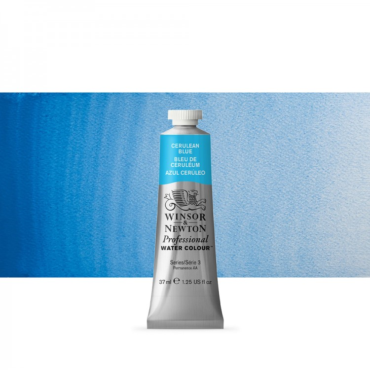 Winsor & Newton : Professional Watercolour Paint : 37ml : Cerulean Blue