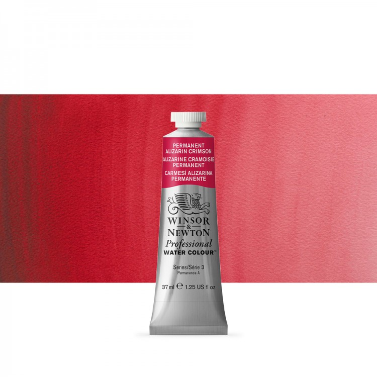 Winsor & Newton : Professional Watercolour Paint : 37ml : Permanent Alizarin Crimson