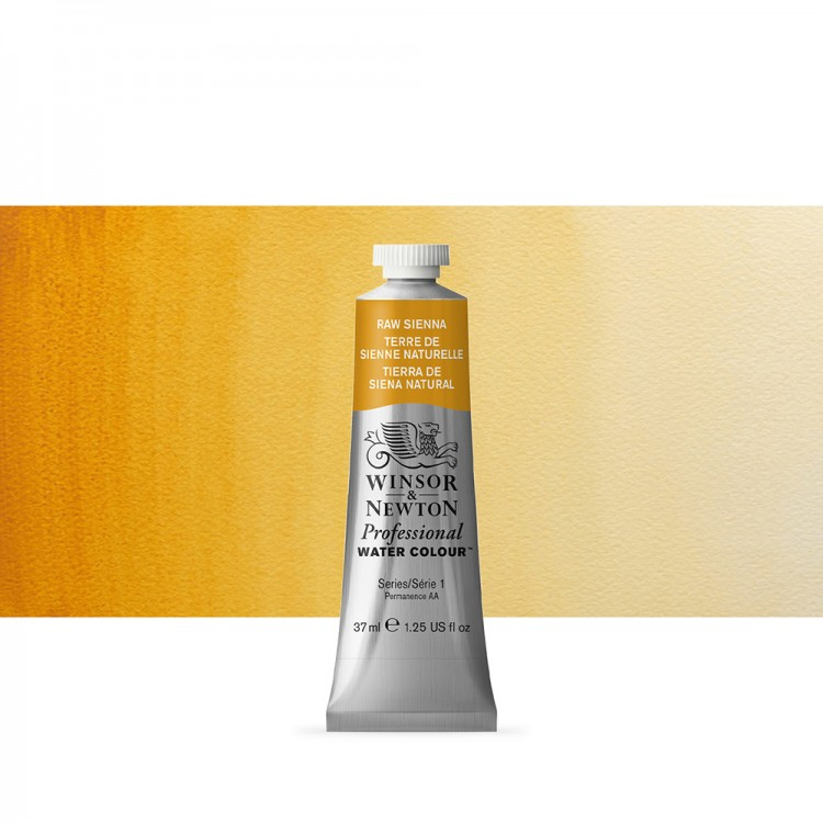 Winsor & Newton : Professional Watercolour Paint : 37ml : Raw Sienna