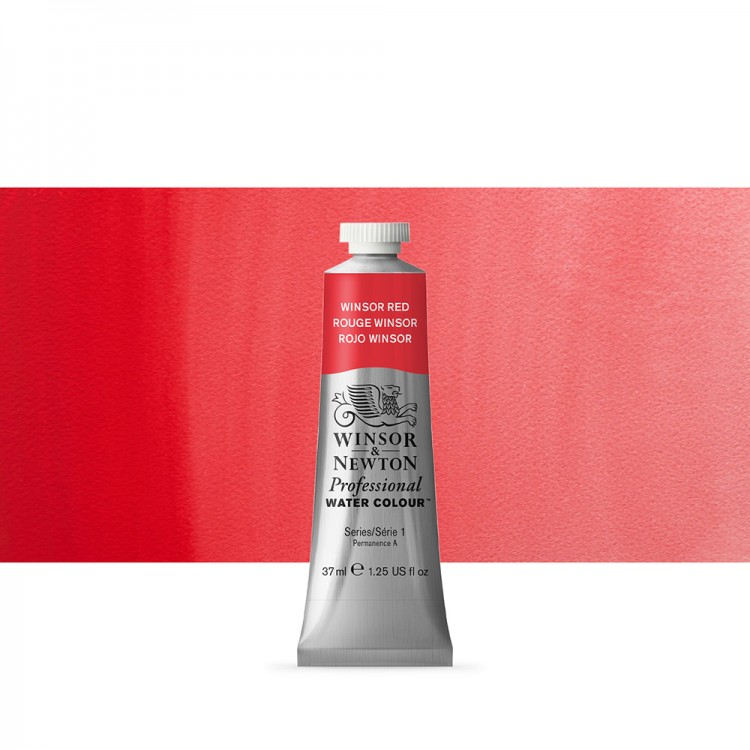 Winsor & Newton : Professional Watercolour Paint : 37ml : Winsor Red