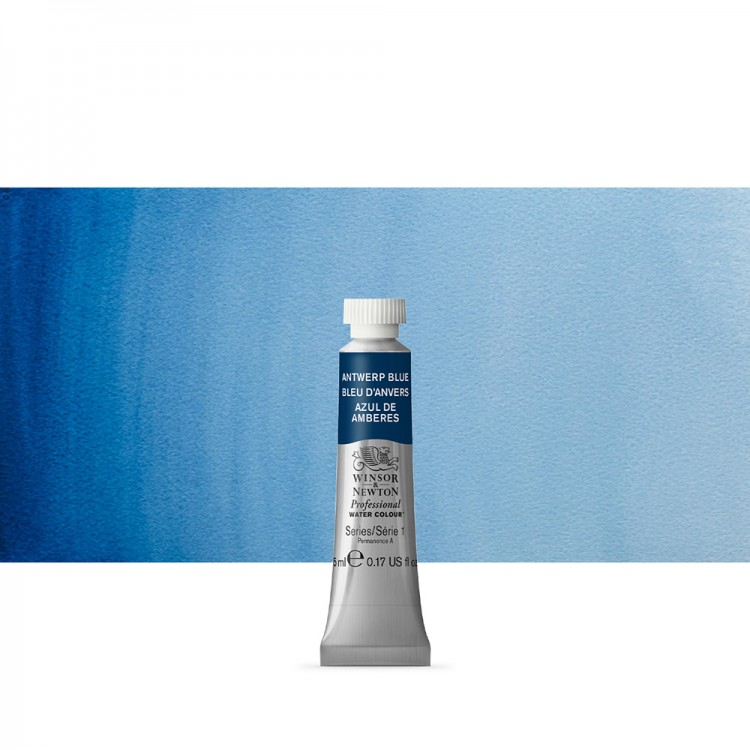 Winsor & Newton : Professional Watercolour Paint : 5ml : Antwerp Blue