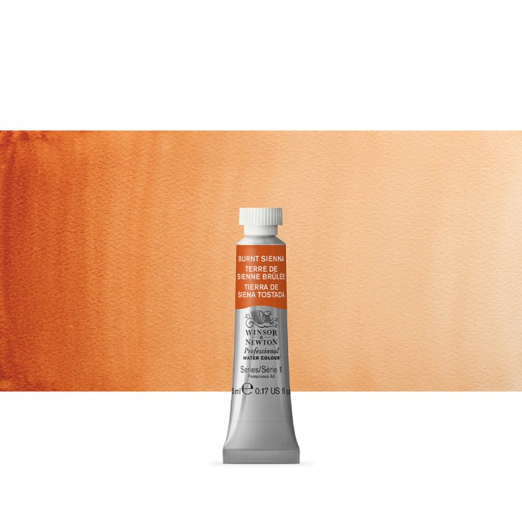 Winsor & Newton : Professional Watercolour Paint : 5ml : Burnt Sienna