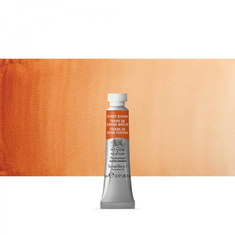 Winsor & Newton : Professional Watercolour : 5ml : Burnt Sienna