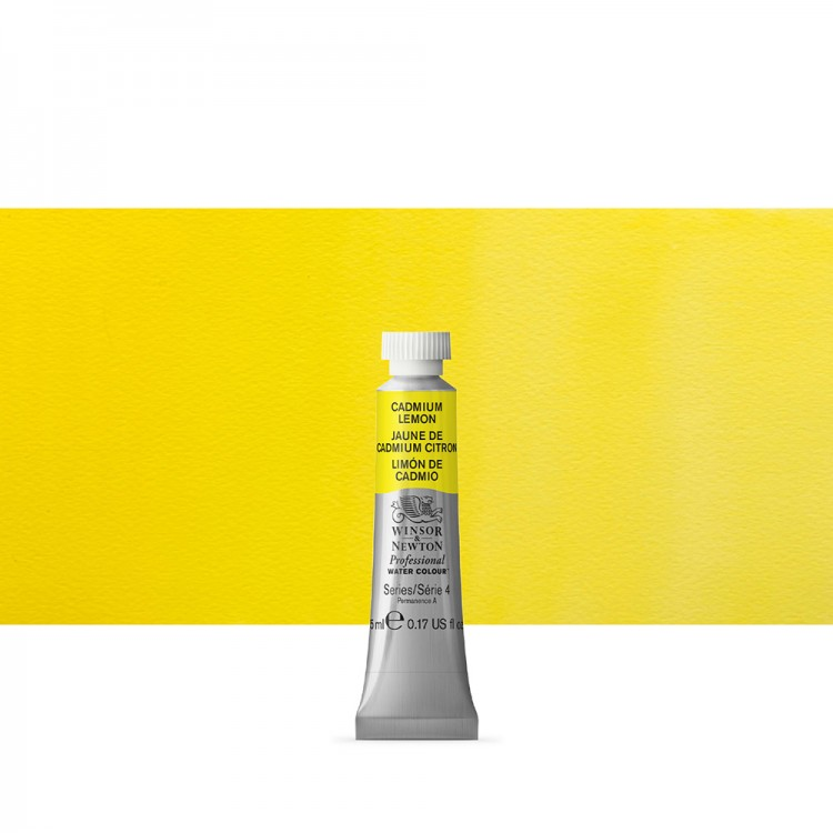 Winsor & Newton : Professional Watercolour Paint : 5ml : Cadmium Lemon